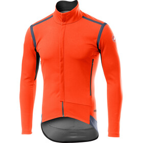Castelli Perfetto Rain Or Shine Long Sleeve Jacket Men orange